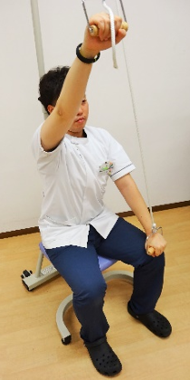プーリー(滑車を使った上肢運動器)